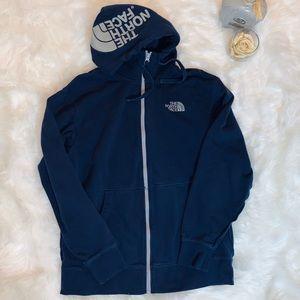The Northface men's Large Navy Zip hoodie